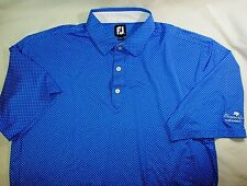 NWOT~ FootJoy Relaxed Fit Golf Polo Shirt~Men's XXL~Spectacular Pattern!