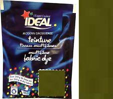 TEINTURE IDEAL TEXTILE TISSU VETEMENT VERT KAKI coton lin laine polyamide