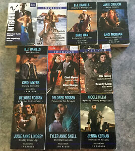 Lot of 10 intrigue Mills & Boon lot #1 Doubles ~ 20 stories