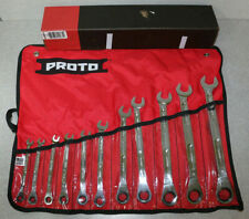 Proto Tools 11 Piece SAE Ratcheting Combination Wrench Set Made in USA