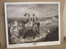 """Francis Wheatley gravure manière noire """"The encampment at Brighton"""" XVIII°"""