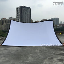 """180"""" 4:3 Portable Home Outdoor Digital HD Movie Projector Screen Simple Curtains"""