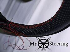 Per VW GOLF MK6 08-13 perforato in pelle Volante Copertura rosso doppia cucitura
