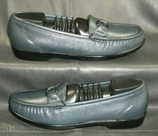 SAS Tripad Comfort Jewel blue leather moc toe loafers Women's shoes size 7 1/2 M