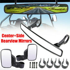 "1.75"" Center Side Rearview Mirror for UTV Polaris Ranger RZR 800 1000 900 Yamaha"
