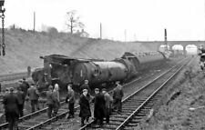 PHOTO  WELWYN GARDEN CITY ACCIDENT OF JANUARY 7 1957 GENERAL VIEW OF THE UP EXPR