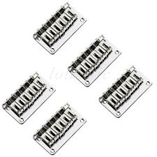 5 Fixed Hardtail Hard Tail Bridge for 6 String Electric Guitar Parts Top Load