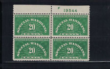 US 1928: #QE3 Special Handling Plate Block 4 LH; Lot#12/4