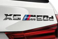 GENUINE BMW F15 X5 'X5M50d' LABEL STICKER CHROME BADGE EMBLEM 51148059011
