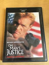 One Man's Justice Motion Picture DVD 1995 Brian Bosworth Action Adventure Crime