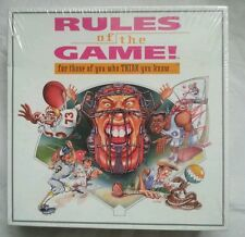 RULES of the Game Board Game NIP 1995 Sports 2-6 players ages 10 + learning