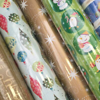 New Assorted Christmas Giftwrap 10m (metre) Roll, Wrapping paper, 500mm x 10m