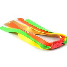 12Pcs Colors Powerful Elastic Flat Rubber Band for Slingshot Catapult Set