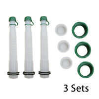 3 SETS Replacement Gas Can Spout Parts Cap Gasket Fuel Container For Rubbermade