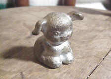 Hines Pup Nickel plated Cast Iron Miniature Dog Paperweight