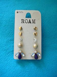 5 Pairs Of Stud Earrings Roam at New Look Bnwts
