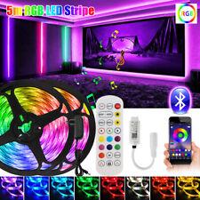 5 M LED Strip RGB Leiste Streifen 5050 SMD Band Musik APP Dimmbar Licht Leuchte