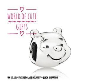 🖤🎀 Winnie The Pooh Charm Fits European Bracelets Silver Tone + Pouch