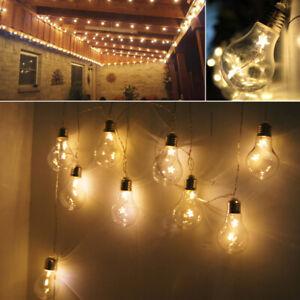 Set of 20 LED Vintage Big Edison Bulbs Fairy Marquee Lights Gazebo Home Decor