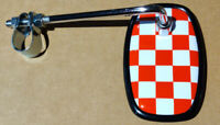 Red Fastback Checkered Bicycle Mirror