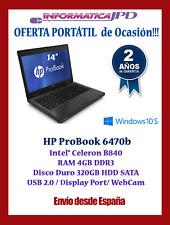Portátil Hp ProBook 6470B 4GB DDR3 /320GB HDD/ Windows 10