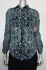 INC International Cpts Women's Leopard Animal Print Button Dn Shirt S