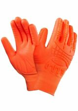 Ansell Mad Grip ActivaRMR Work Gloves Hi Viz Palm Knuckle Protection Tough  9/L