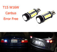 2x T15 168 921 W16W 9W 16-SMD LED Bulb Side Indicator Tail Stop Reverse Light