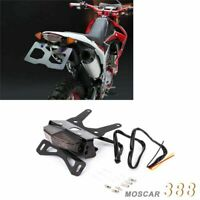 LED Tail Light License Plate Holder flasher Fit For HONDA CRF250L Smoked Black