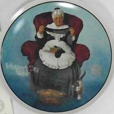 Mending Time Norman Rockwell collector plate Mothers Day 1985 Knowles Fine China