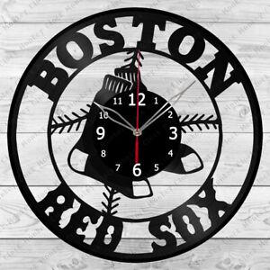 Vinyl Clock Boston Red Sox Record Wall Clock Home Decor Handmade 1049