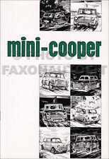 Mini Cooper Owners Manual Mark II 1968 1969 1970 Inc S Drivers Guide Book Austin