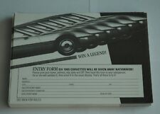 "1985 CORVETTE ""WIN A LEGEND"" PAD A ENTRY FORMS CHEVROLET CONTEST 1985"