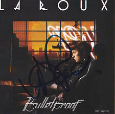 LAROUX LA ROUX SIGNED BULLETPROOF CD CHERRYTREE RECORDS BRITISH SINGER NYC