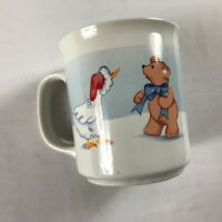 House Of Lloyd Coffee Mug VTG 1989 Cup Duck Bear Winter Snow Holidays Christmas