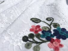 Broderie Anglaise on cotton lawn, 'Arabella', dress fabric