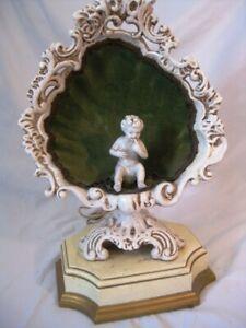 Vintage Cherub Angel Gold Gilt Bronze Table Lamp