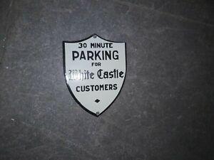 "Porcelain 30 Minute Parking Enamel Sign Size 6"" X 4.5"" Inches"