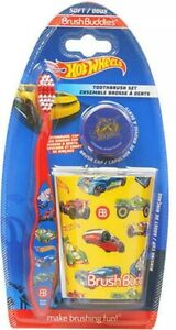 ✅Brush Buddies Hot Wheels Toothbrush Set Toothbrush, Cap and Cup
