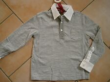 (174) RARE -The Kid Boys langarm Polo Shirt mit Brusttasche & Logo Druck gr.116