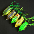 Cute Simulation Frog Topwater Fishing Lure Crankbait Hooks Bass Bait Tackle New