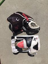 Vintage Brian's Hockey Air Hook Glove And Blocker Used