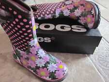 Bogs Kids 5 Coffee Mult Warm Waterproof Boots Shaft 10in.Tall NIB Really CUTE!