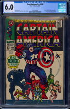 Captain America #100 CGC 6.0 Off-W/White Pages #2101932002 1st issue!