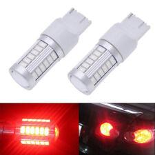 2x T20 Red 7440 7443 5630 33SMD LED Car Rear Lamp Backup Lights Bulb New