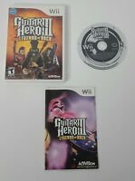 Guitar Hero III: Legends of Rock (Nintendo Wii, 2007) With Manual Tested