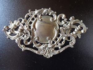 Ancienne  poignée  , bouton   de tiroir, en laiton embouti nickelé