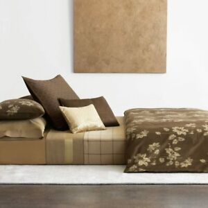 $350 Calvin Klein Home Golden Vines Woodland Duvet Cover, Queen - NWT