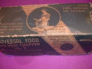 ANTIQUE MEAT & FOOD HAND CRANK GRINDER