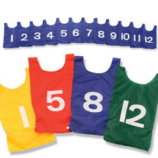 US Games Youth Numbered 1-12 Nylon Pinnies - 1 Dozen Gold Pinnies